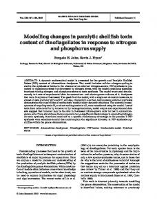 Modelling changes in paralytic shellfish toxin content of dinoflagellates ...