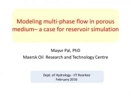Modelling Density Driven Flow and Solute Transport ...