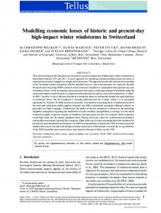 Modelling economic losses of historic and present-day high-impact ...