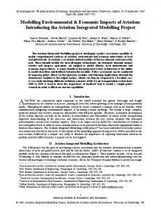Modelling Environmental & Economic Impacts of Aviation: Introducing ...