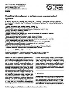 Modelling future changes in surface ozone: a ... - Atmos. Chem. Phys