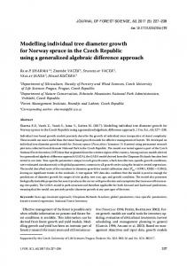 Modelling individual tree diameter growth for Norway spruce in the ...