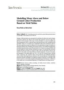 Modelling mean above and below ground litter production based on ...