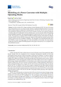 Modelling of a Power Converter with Multiple Operating Modes - MDPI