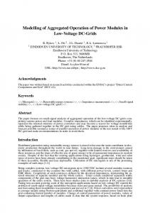 Modelling of Aggregated Operation of Power Modules in ... - DCC+G
