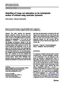 Modelling of Congo red adsorption on the hydrophobic ... - Springer Link
