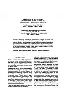 MODELLING OF MECHANICAL UNCERTAINTY IN ...