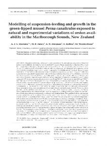 Modelling of suspension-feeding and growth in the ... - Inter Research