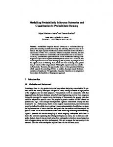 Modelling Probabilistic Inference Networks and Classification in