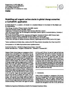Modelling soil organic carbon stocks in global ... - Biogeosciences
