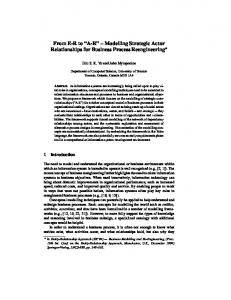 Modelling Strategic Actor Relationships for Business Process ...