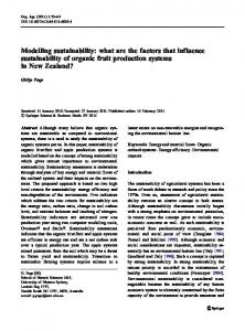 Modelling sustainability: what are the factors that ... - Springer Link