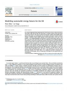 Modelling sustainable energy futures for the UK - Core