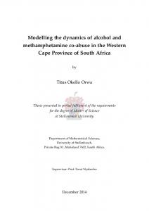 Modelling the dynamics of alcohol and methamphetamine co-abuse in ...