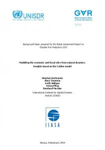Modelling the economic and fiscal risks from natural ... - PreventionWeb