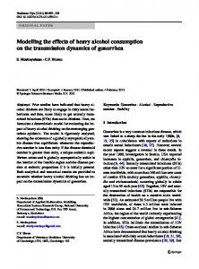 Modelling the effects of heavy alcohol consumption on ... - Springer Link