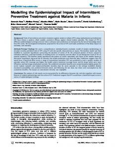 Modelling the Epidemiological Impact of ... - Semantic Scholar