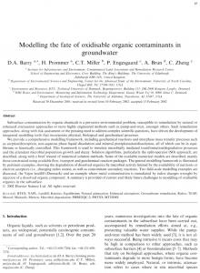 Modelling the fate of oxidisable organic contaminants In ... - Infoscience