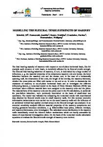MODELLING THE FLEXURAL TENSILE STRENGTH OF MASONRY