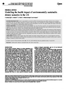 Modelling the health impact of environmentally ... - BioMedSearch
