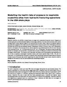 Modelling the health risks of exposure to respirable ...