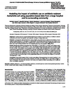 Modelling the impact of antibiotic use on antibiotic-resistant ... - Saturn