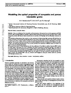 Modelling the optical properties of composite and porous interstellar