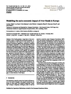 Modelling the socio-economic impact of river floods in Europe