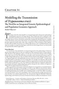 Modelling the Transmission of Trypanosoma cruzi