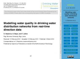 Modelling water quality in drinking water distribution