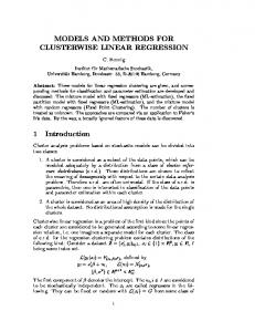 MODELS AND METHODS FOR CLUSTERWISE LINEAR ... - CiteSeerX