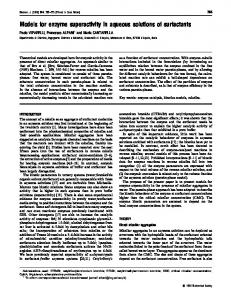 Models for enzyme superactivity in aqueous solutions of surfactants