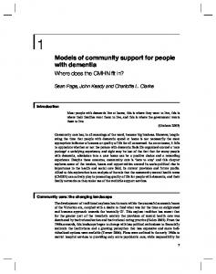 Models of community support for people with dementia - CiteSeerX