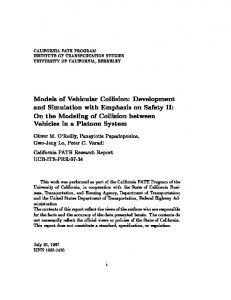 Models of Vehicular Collision