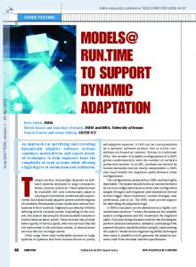 MODELS@ RUN. TIME TO SUPPORT DYNAMIC ADAPTATION