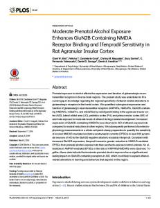 Moderate Prenatal Alcohol Exposure Enhances GluN2B ... - PLOS