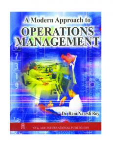 Modern Approach to Operations Management