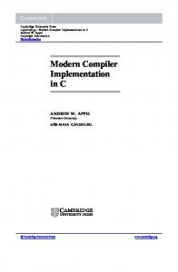Modern Compiler Implementation in C - Assets - Cambridge ...