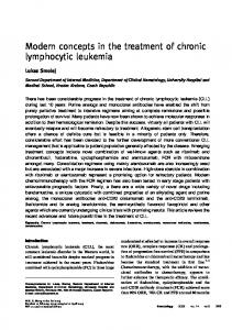 Modern concepts in the treatment of chronic lymphocytic leukemia