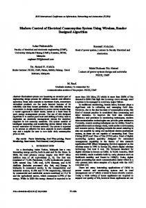 Modern Control of Electrical Consumption System Using Wireless ...