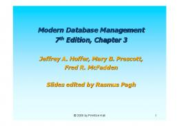 Modern Database Management 7th Edition, Chapter 3