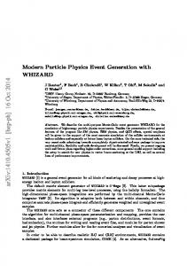 Modern Particle Physics Event Generation with WHIZARD