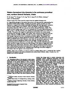Modern thermokarst lake dynamics in the ... - Wiley Online Library