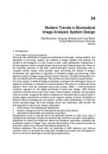 Modern Trends in Biomedical Image Analysis System