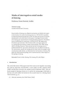 Modes of interrogatives entail modes of sluicing