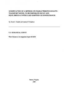 modification of a method-of-characteristics solute- transport model to ...