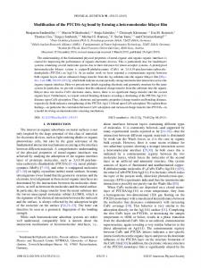 Modification of the PTCDA-Ag bond by forming a ... - JuSER