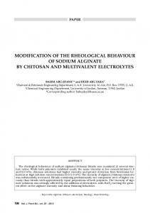modification of the rheological behaviour of sodium alginate by