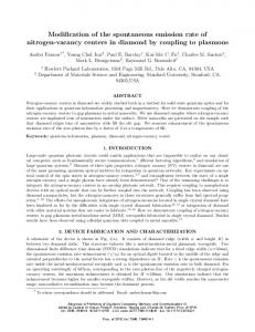 Modification of the spontaneous emission rate of nitrogen-vacancy ...
