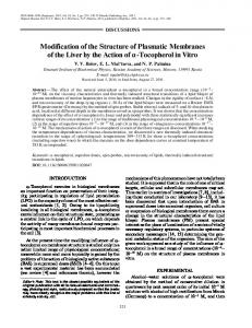 Modification of the structure of plasmatic membranes of the liver by the